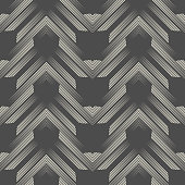 Seamless ZigZag Pattern. Abstract Aztec Background.