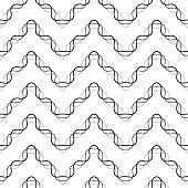 Seamless ZigZag Pattern. Abstract  Monochrome Damask Background