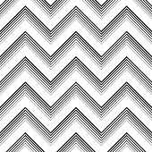Seamless ZigZag Pattern. Abstract  Monochrome Line  Background