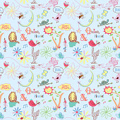 Seamless_Playful_Collage_Pattern_Sweet_Dreams_Blue_Background