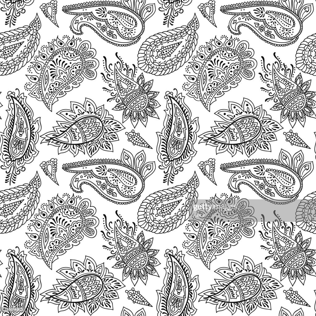 Seamlessly repeating paisley pattern