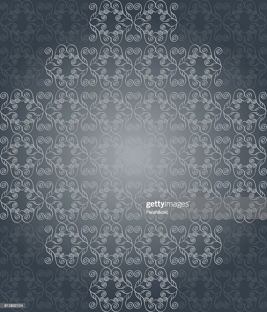 Seamlessly Wallpaper With Dark Gray Color Tones Stock