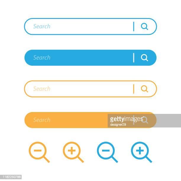 suche bar und lupe nissenbild-symbol-design. - suchen stock-grafiken, -clipart, -cartoons und -symbole