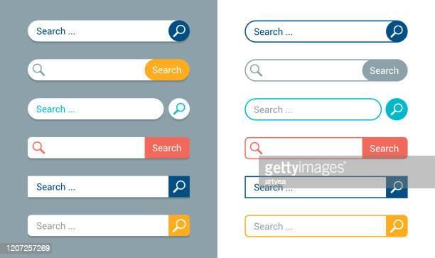 suchleistenvorlagen - suchen stock-grafiken, -clipart, -cartoons und -symbole