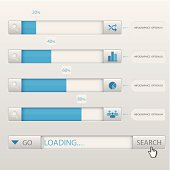 Search Box Loading Infographic Design Template