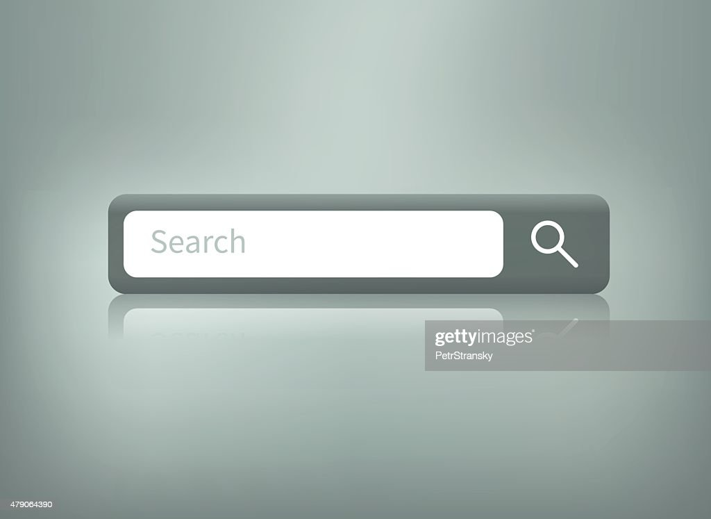 search button with reflection