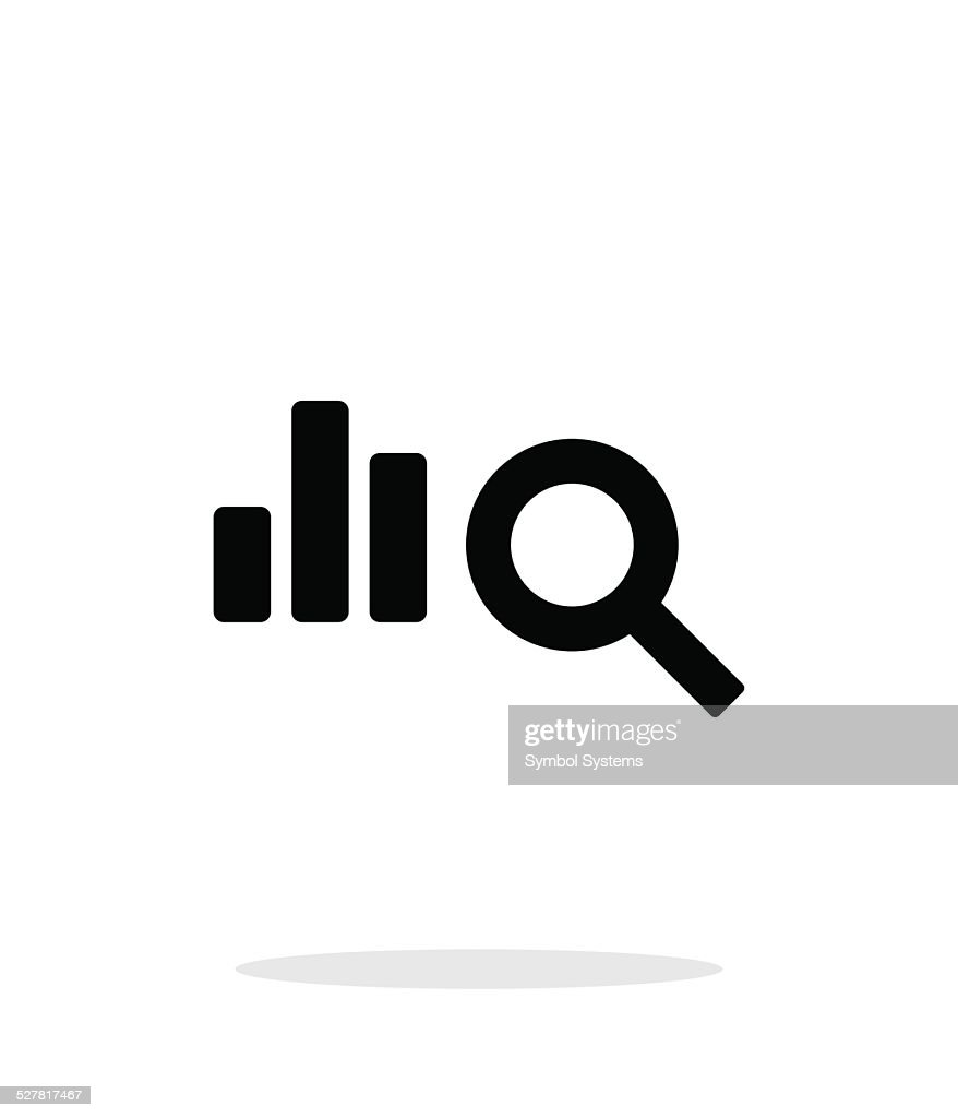 Search chart icon on white background.