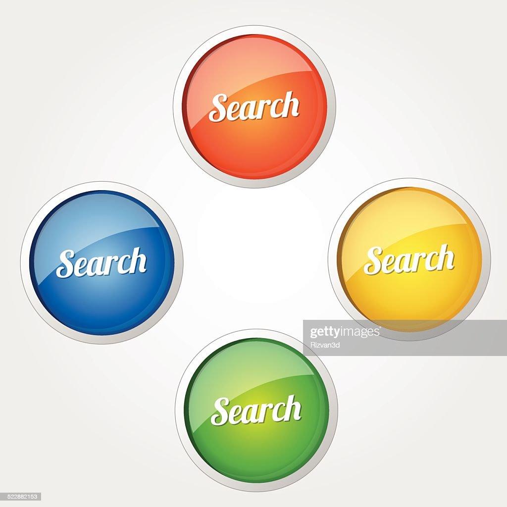 Search Colorful Vector Icon Design