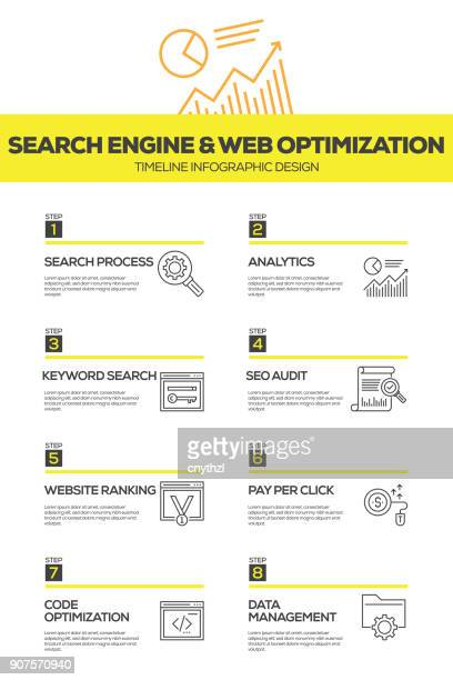 Search Engine and Web Optimization Infographic Design Template