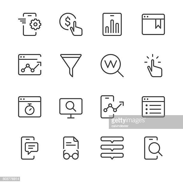 Search Engine Optimization icons set 2 | Black Line series