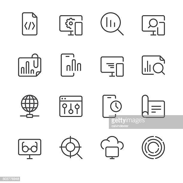 Search Engine Optimization icons set 3 | Black Line series