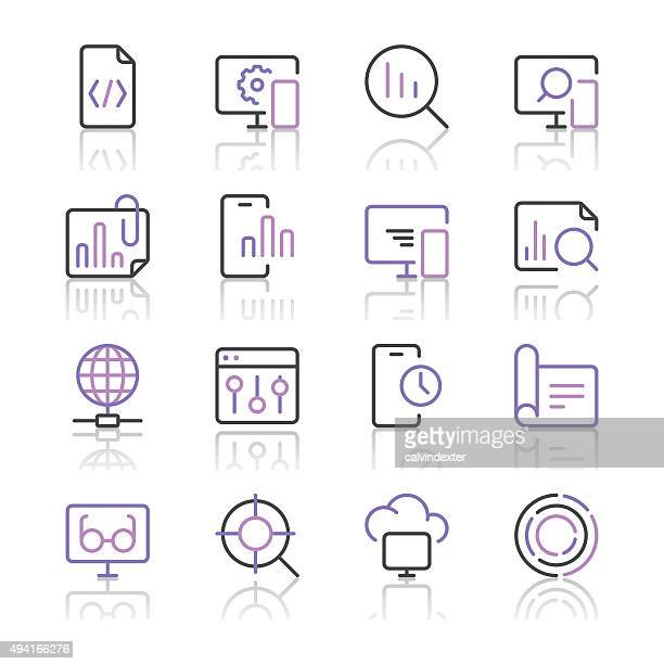 Search Engine Optimization icons set 3 | Purple Line series