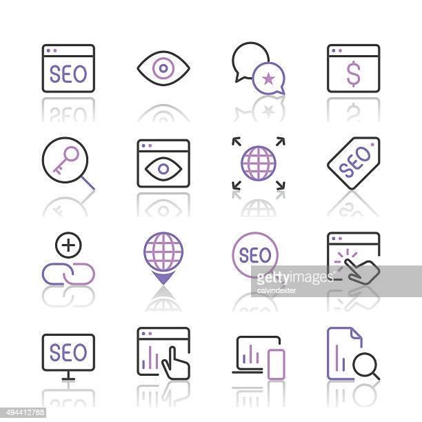 Search Engine Optimization icons set 4 | Purple Line series