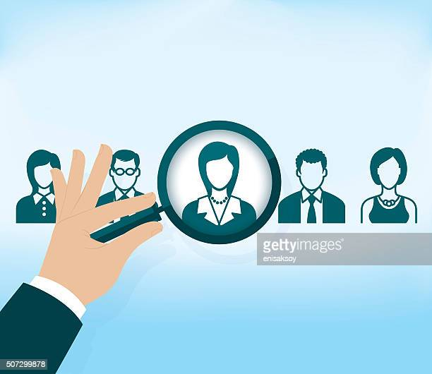 Search for job symbol with magnifying glass
