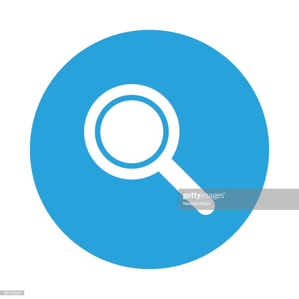 search glyph flat circle icon
