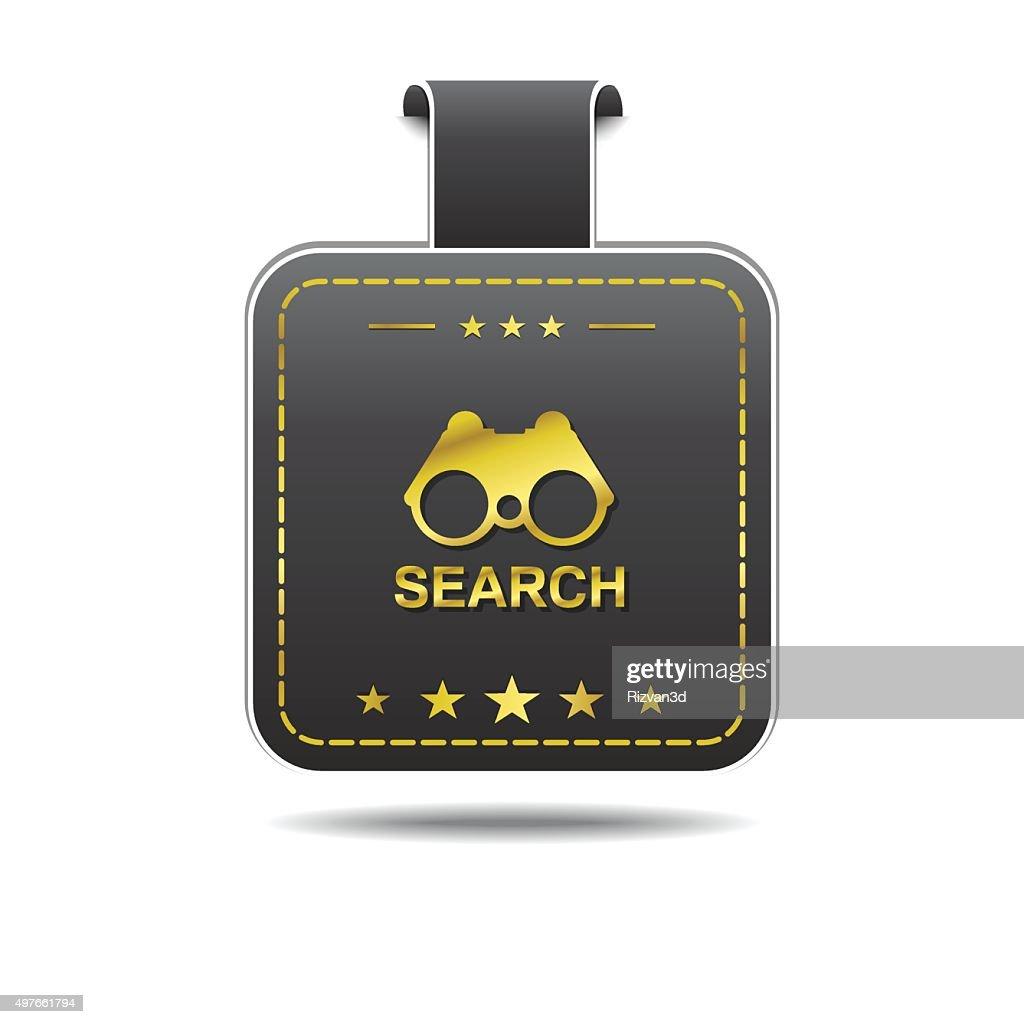 Search golden Vector Icon Design