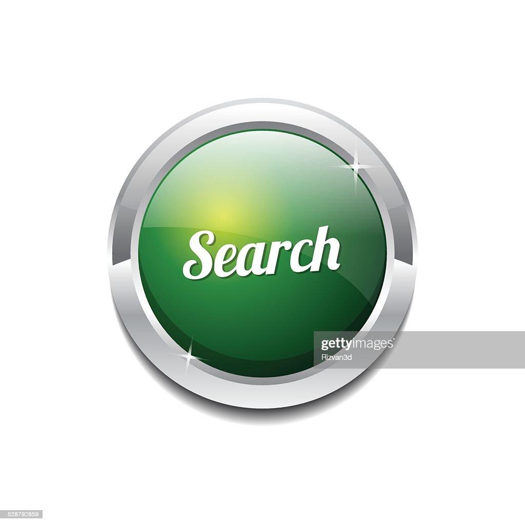 Search Green Vector Icon Button
