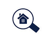search home glyph icon