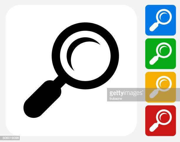 Search Icon Flat Graphic Design