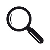 Search magnifying glass icon symbol