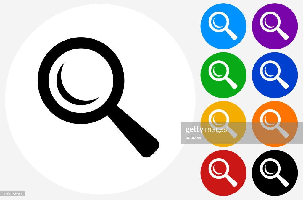 Search Magnifying Glass Icon Vector Art