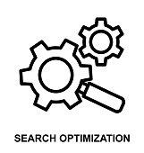 search optimization Thin Line Vector Icon