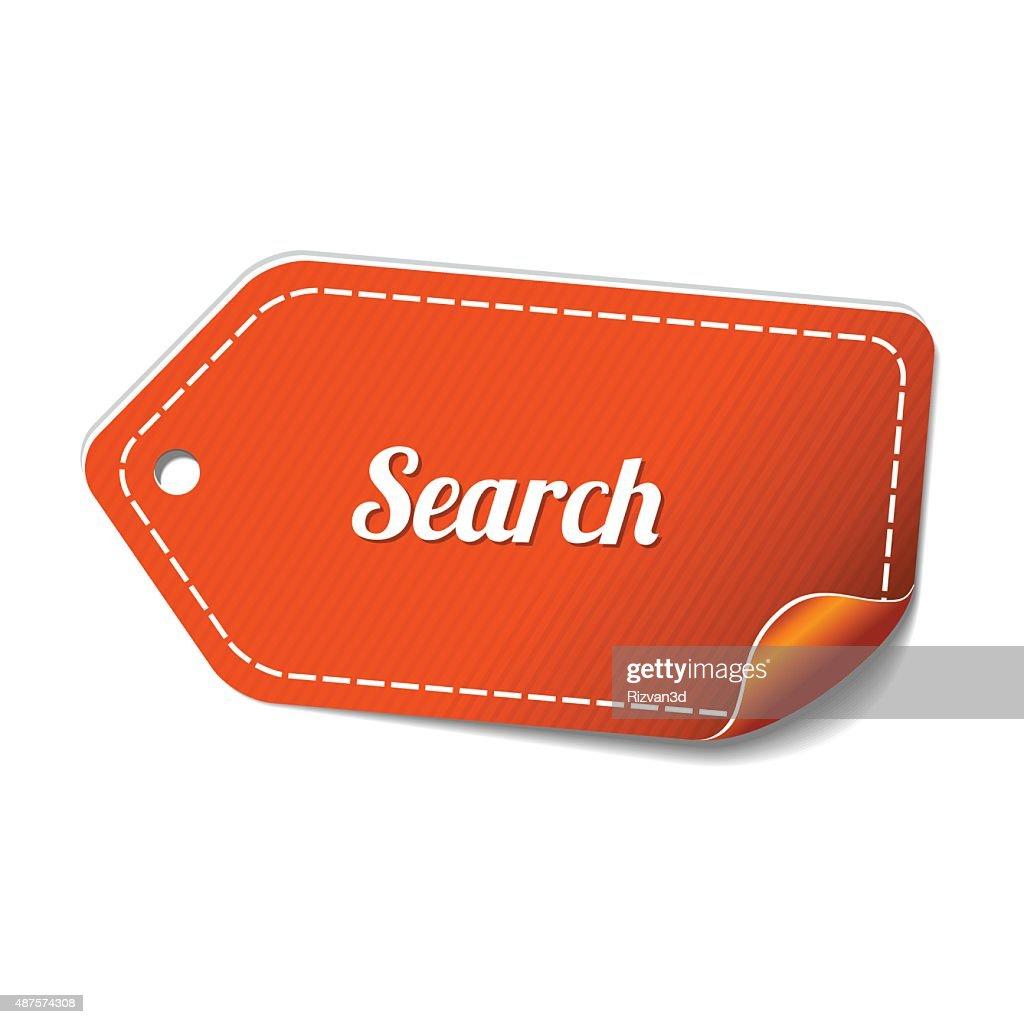 Search Orange Vector Icon Design