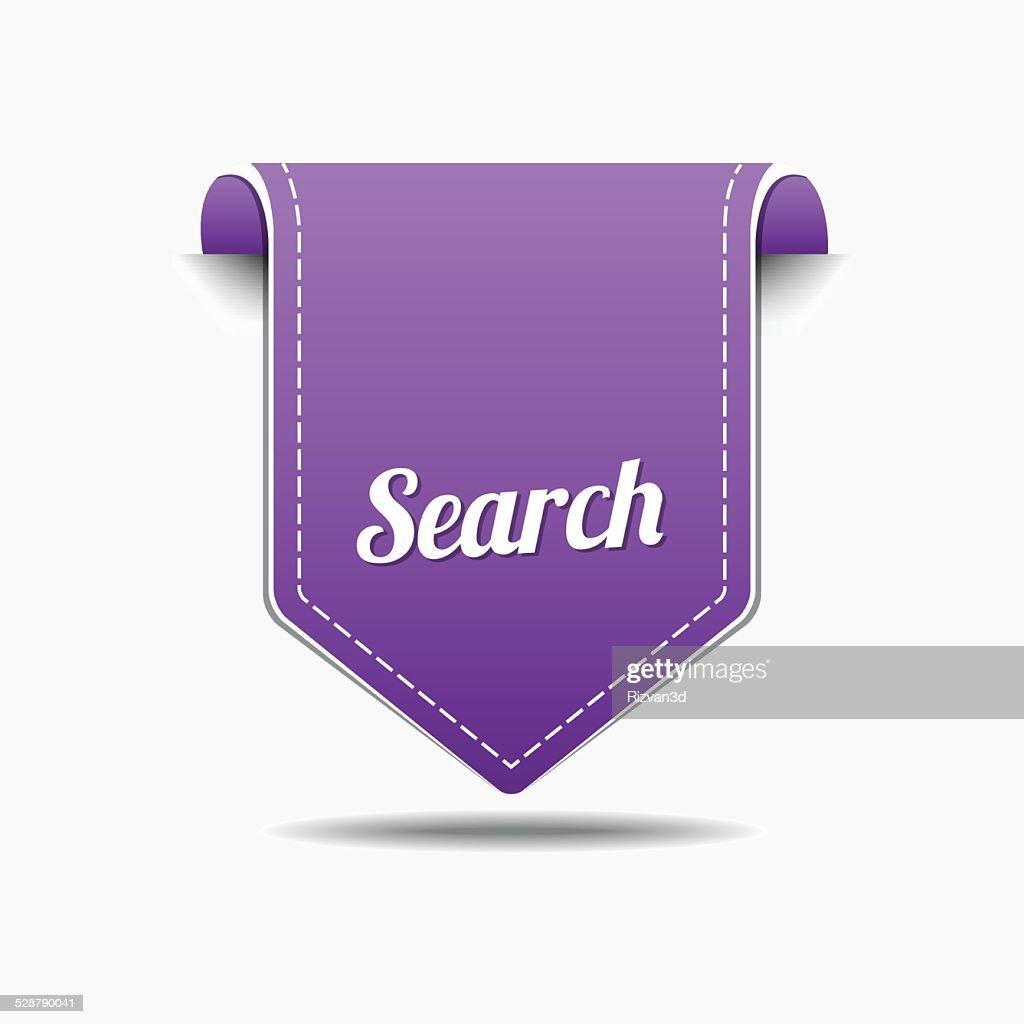 Search Purple Vector Icon Design