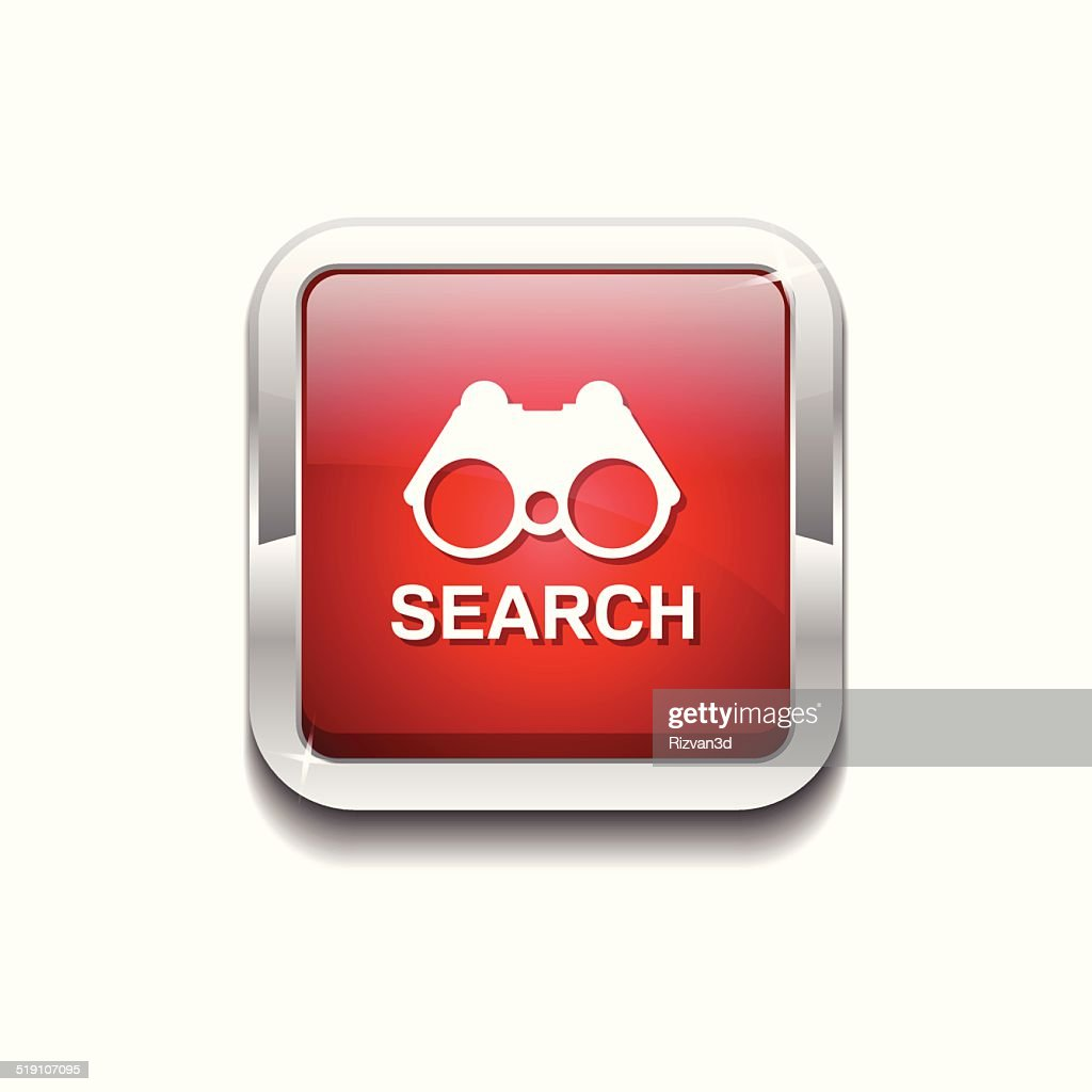 Search Red Vector Icon Button