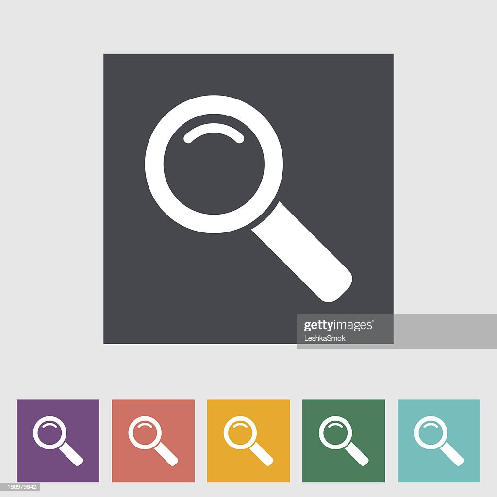 Search single flat icon.