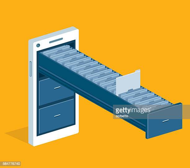 search - filing cabinet stock illustrations, clip art, cartoons, & icons