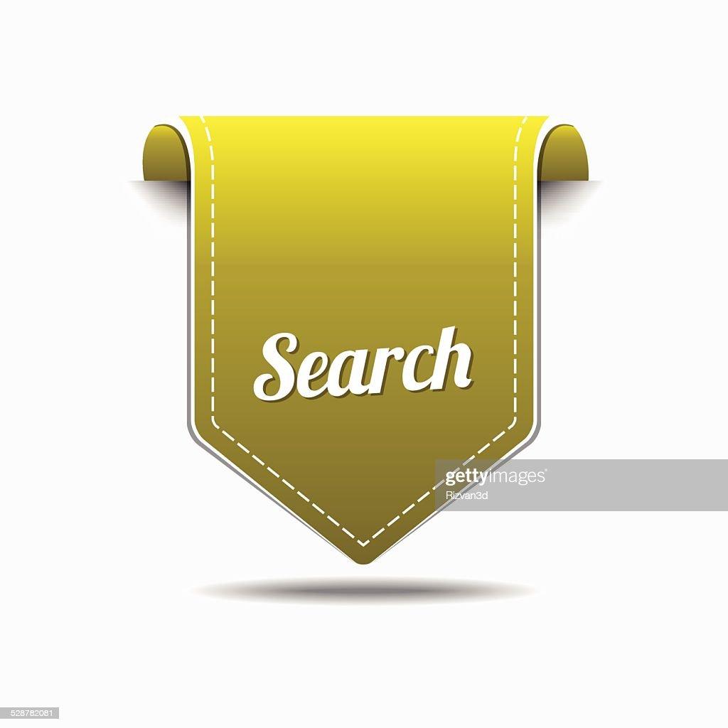 Search Yellow Vector Icon Design