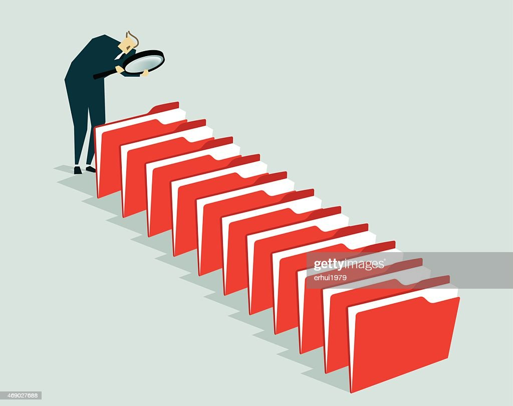 Searching,  Administrator, File-Illustration : stock illustration