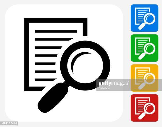 searching documents icon flat graphic design - bar code reader stock illustrations, clip art, cartoons, & icons
