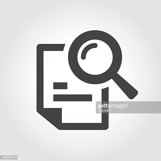 Searching Documents Icon - Iconic Series