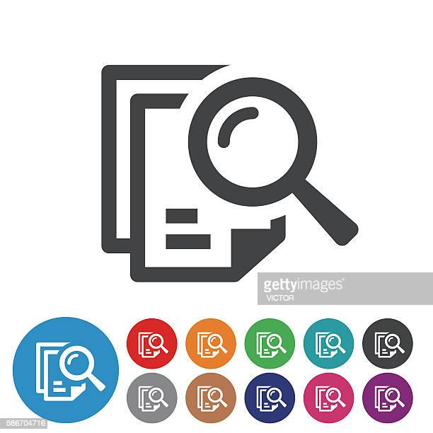 searching documents icons - graphic icon series - searching stock illustrations