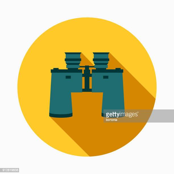 searching flat design e-commerce icon - binoculars stock illustrations