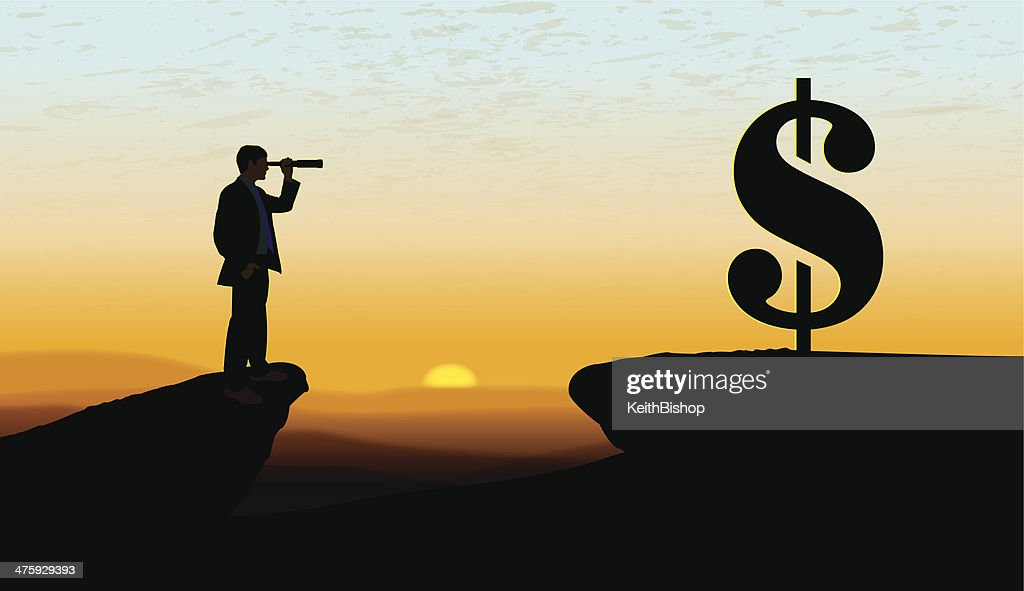 Searching for New Business Background : stock illustration