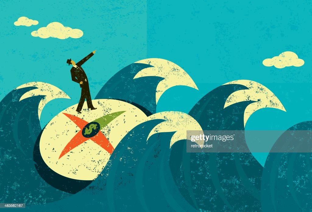 Searching for revenue in unchartered waters : Vector Art