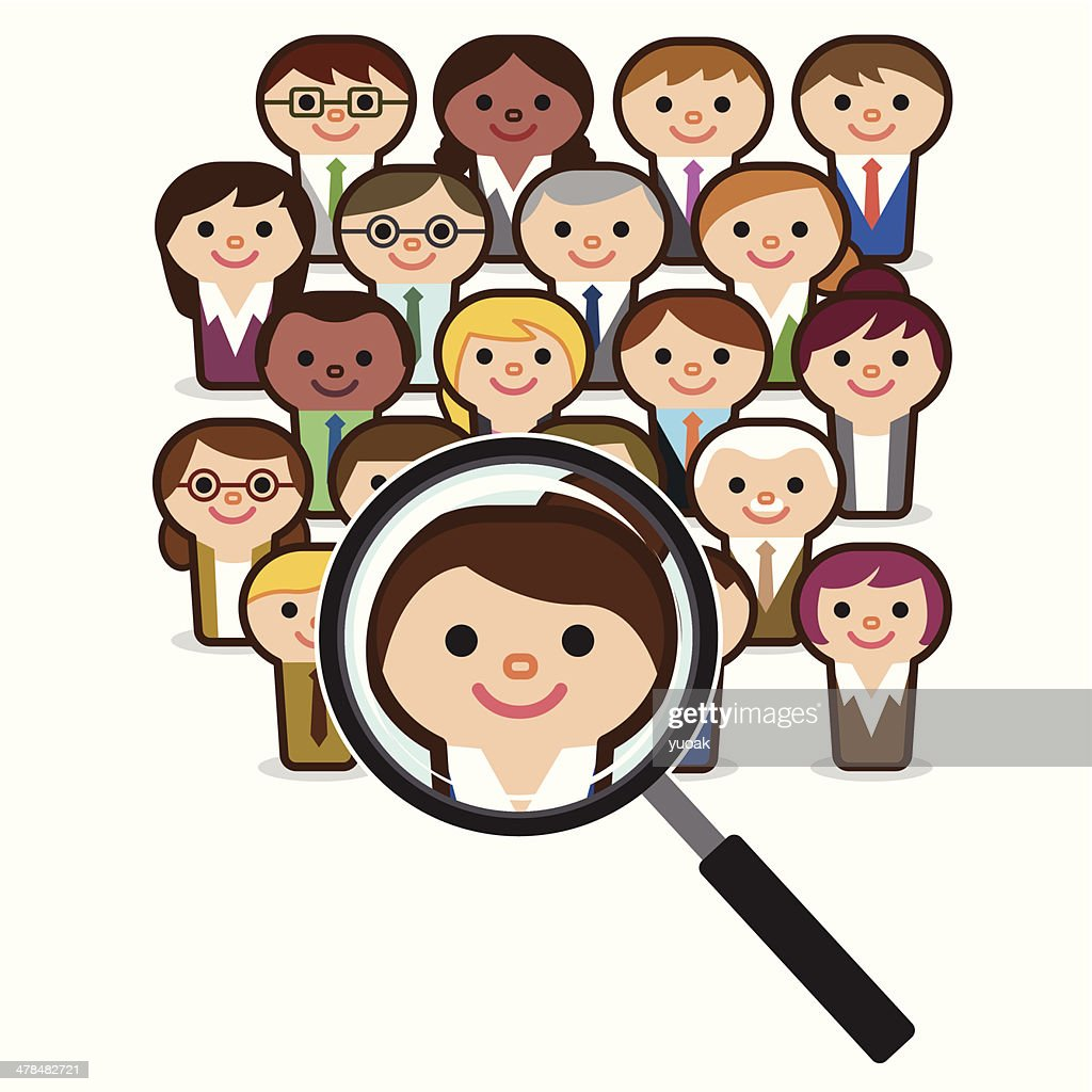 Searching people for job : stock illustration