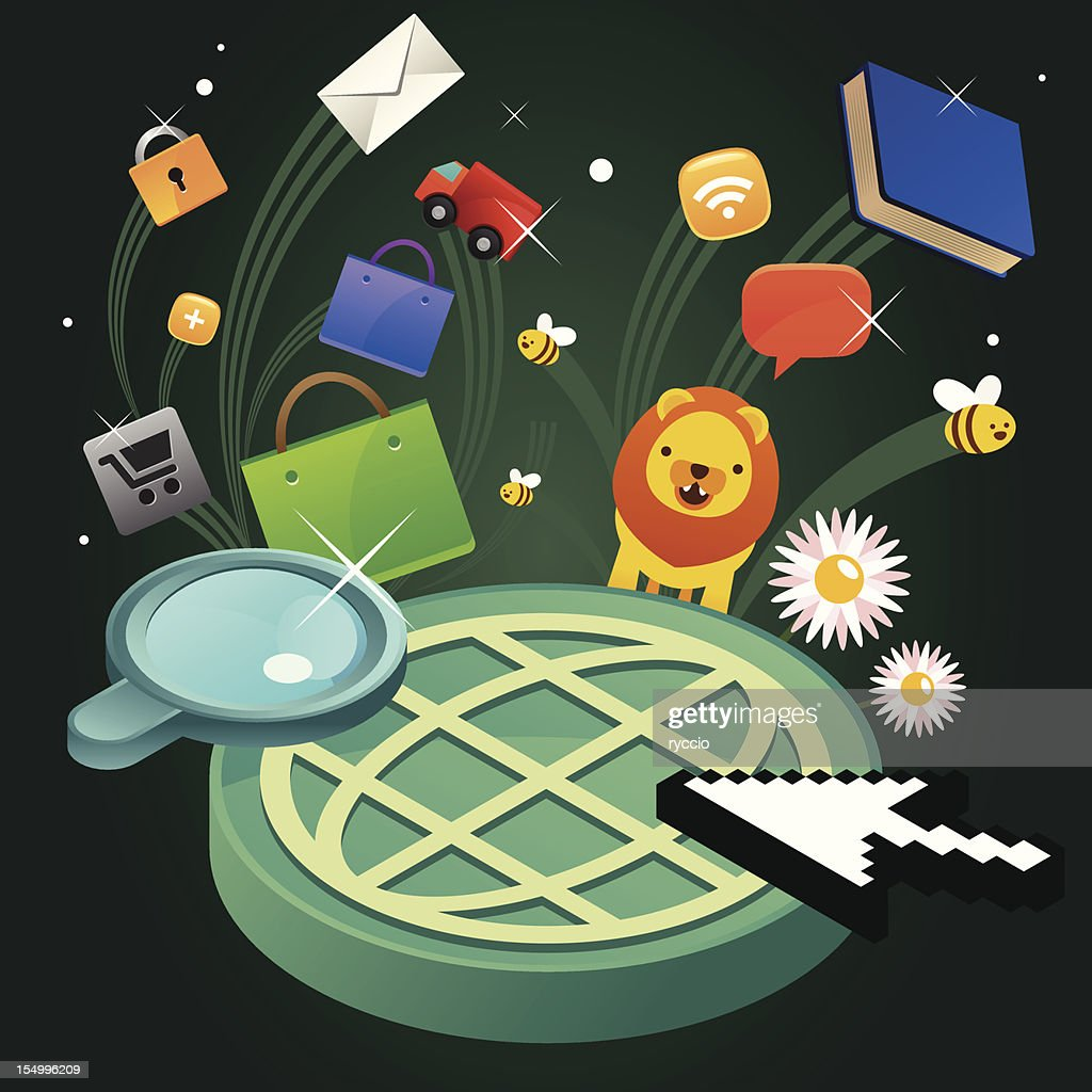 Searching the web : Vector Art