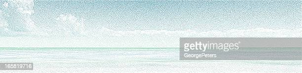 seascape panorama - seascape stock illustrations, clip art, cartoons, & icons