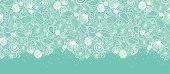 Seashells Texture Horizontal Seamless Pattern Border