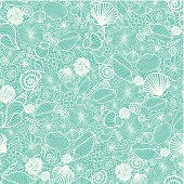 Seashells Texture Seamless Pattern Background