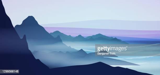 meereslandschaft bei nacht - ruhige szene stock-grafiken, -clipart, -cartoons und -symbole
