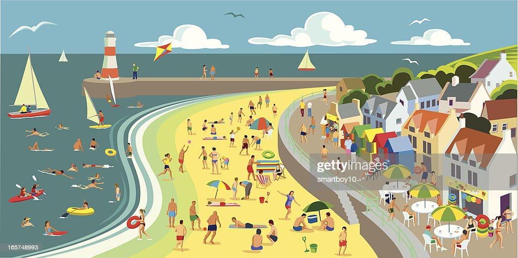 Seaside : stock illustration