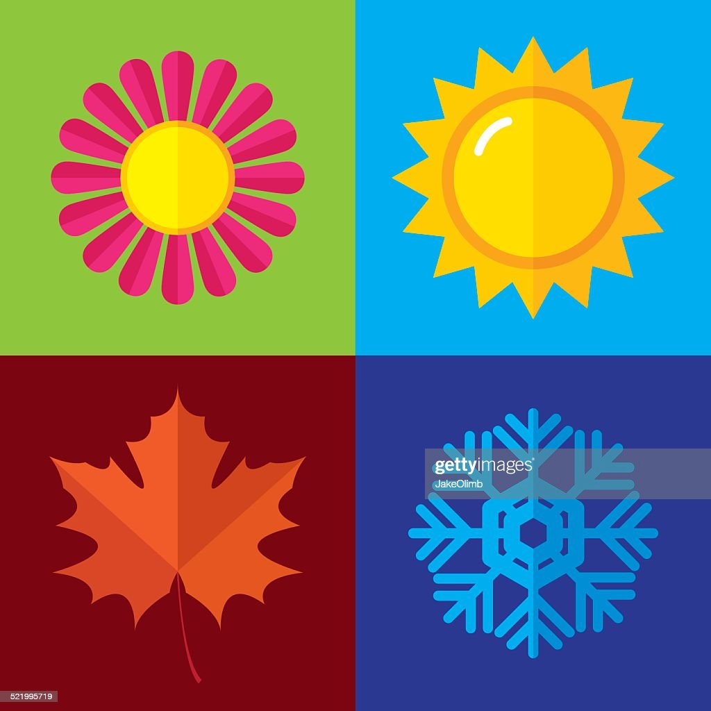 Season Icons Flat