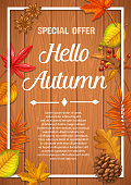 Seasonal autumn banner or poster