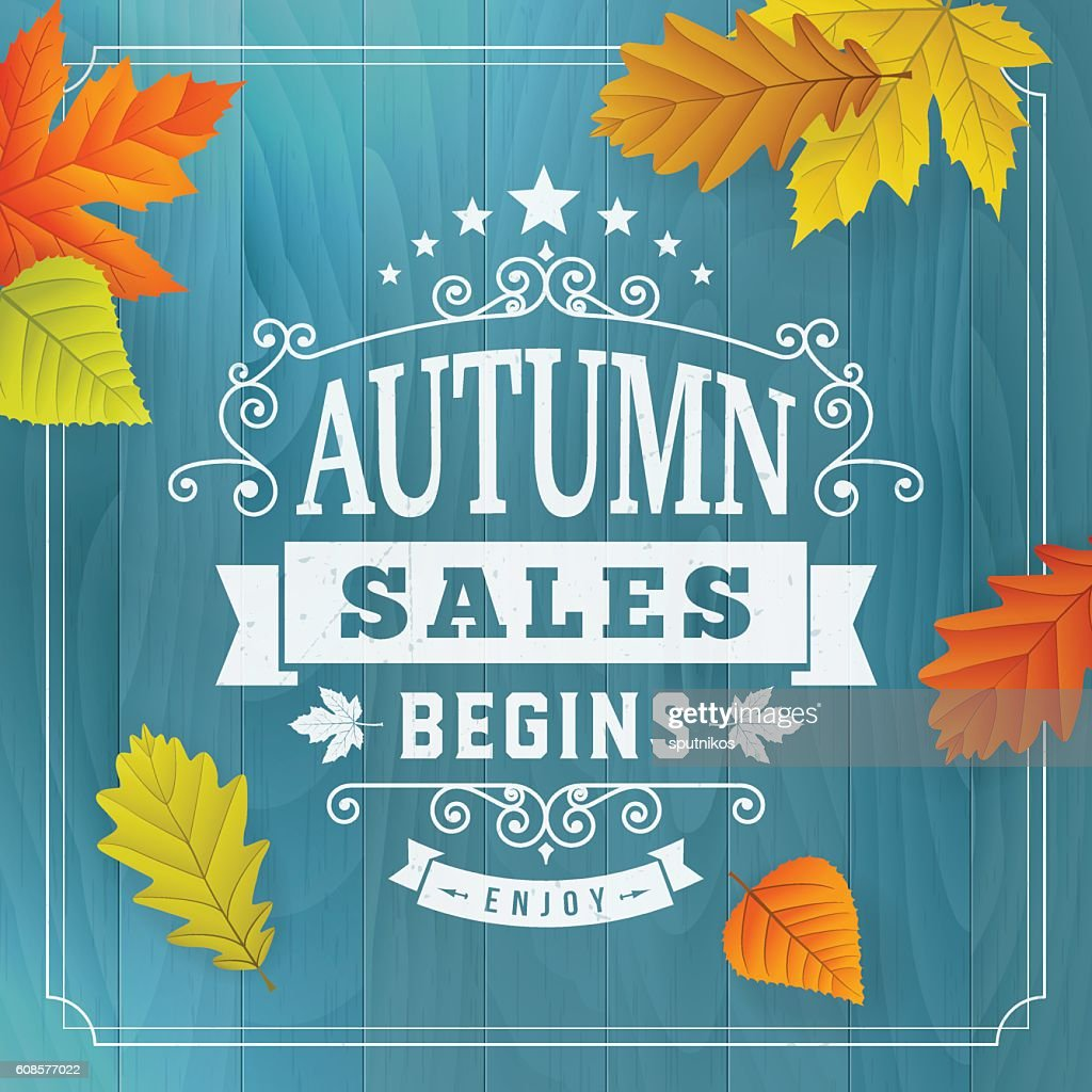 Seasonal autumn business sales background