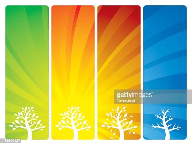 seasonal backgrounds - life cycle stock illustrations